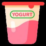 meyveli yoğurt ayran kabı